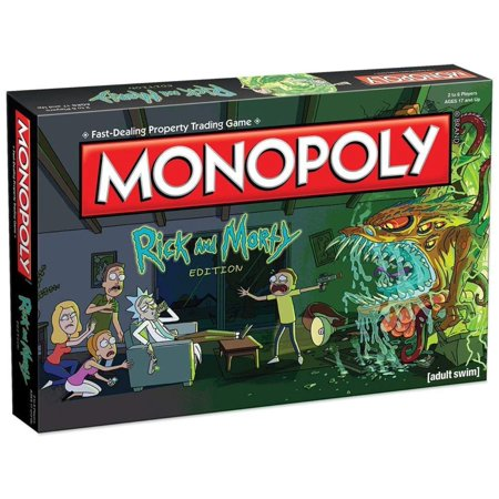 Monopoly Rick and Morty Board Game | Based on the hit Adult Swim series Rick & Morty | Offically Licensed Rick Morty Merchandise | Themed Classic Monopoly Game, N/A By USAopoly - Beach Themed Games