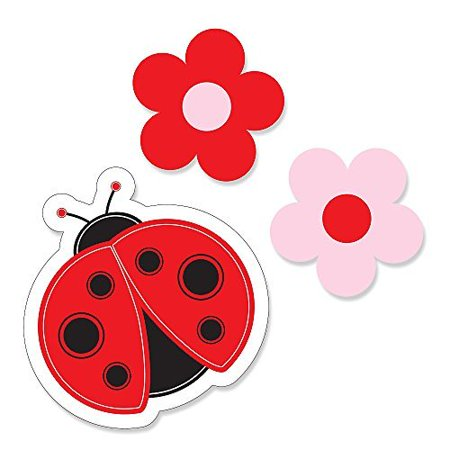 Modern Ladybug - DIY Shaped Party Cut-Outs - 24 Count - Party City Ladybug