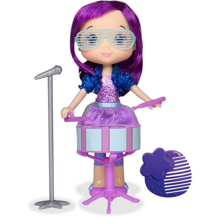 Plum Pudding Doll with Drum - Sparkly Microphone