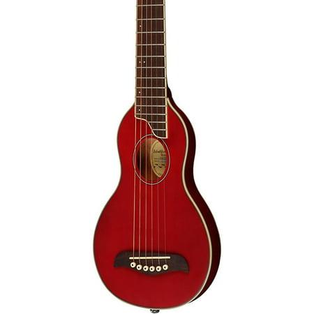 Washburn Rover Travel Guitar Transparent Red