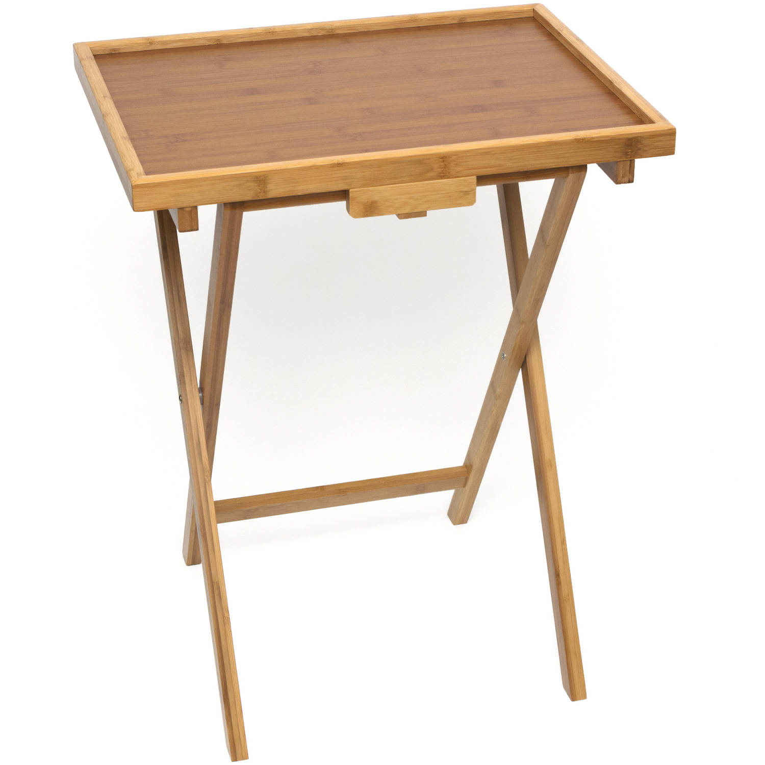 Lipper Bamboo Snack Table with Lip