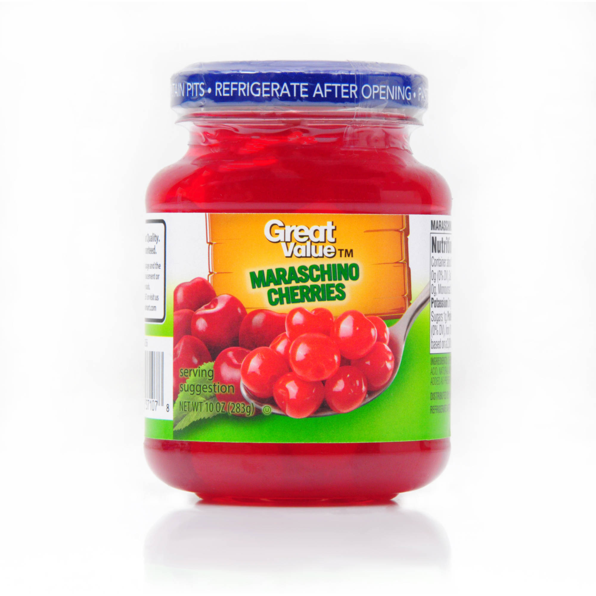 Great Value: Maraschino Cherries, 10 Oz by Wal-Mart Stores, Inc.