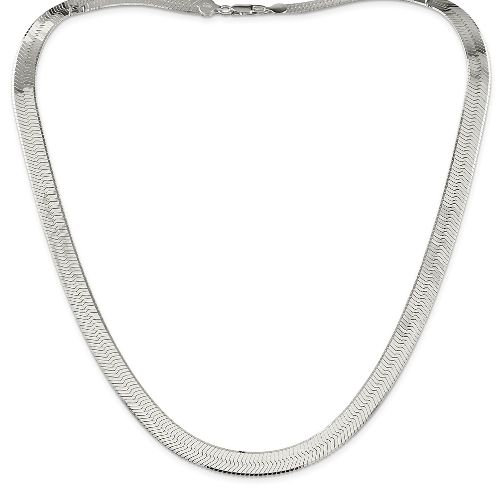Sterling Silver 24in 8.75mm Magic Herringbone Necklace Chain