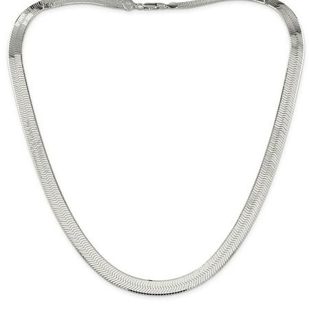 "925 Sterling Silver 8.75mm Magic Herringbone Bracelet or Anklet -8"" (8in x 8.75mm)"