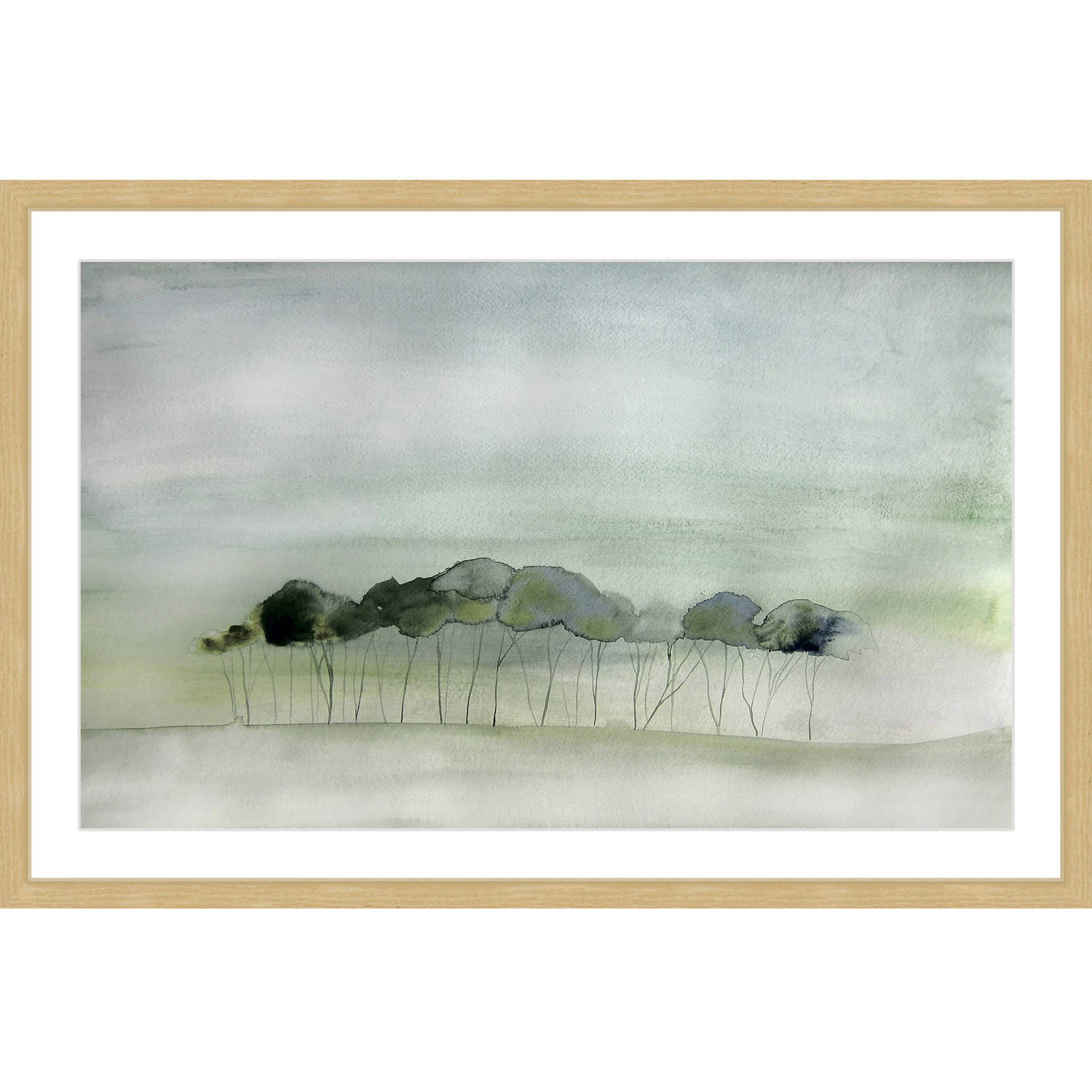 """Marmont Hill """"Quiet"""" by Christine Lindstrom Framed Painting Print by Generic"""