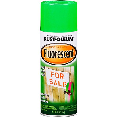 Rust-Oleum Specialty Fluorescent Green Spray Paint, 11 oz - Green Chalkboard Paint