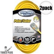 Coleman Cable 01488 50' 14/3 SJEOW Polar/Solar Extension Cords 2-Pack