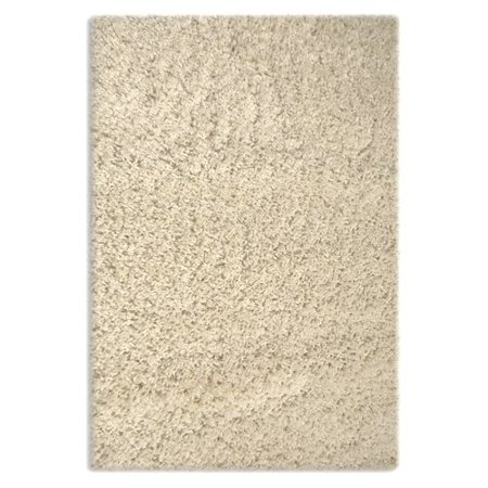 Colorville Collection Cream High Pile Soft Shag Area Rug  5 Feet 3 Inches By 7 Feet 2 Inches  53 X 72