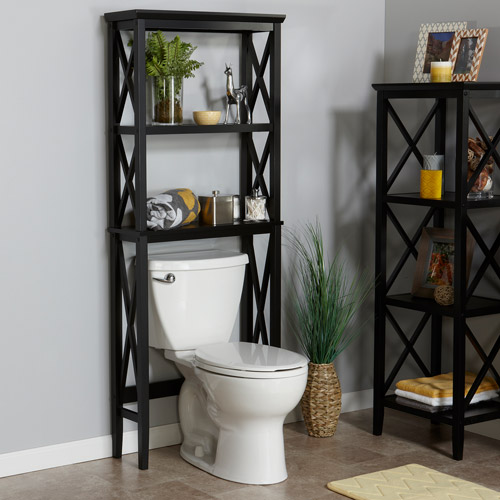 Riverridge X Frame Over The Toilet Space Saver Storage Shelves Bathroom Cabinet Ebay
