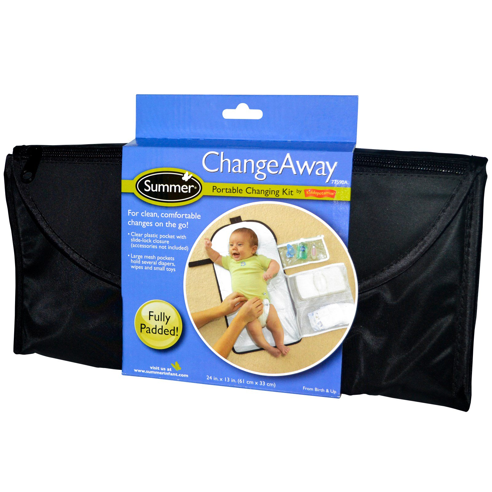 Summer Infant, ChangeAway, Portable Changing Kit, From Birth & Up, 24 in x 13 in (61 cm x 33 cm)(pack of 2)