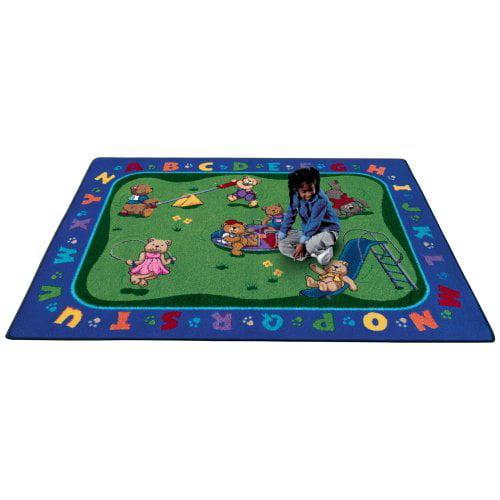 Joy Carpets Teddy Bear Playground Kids Area Rug