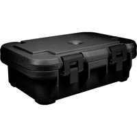 """Cambro Insulated Food Carrier for 4"""" Deep Pans, Top Loading S-Series, Black, UPCS140-110"""