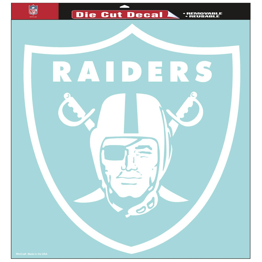 Oakland Raiders Official NFL 8 inch x 8 inch  Die Cut Car Decal by Wincraft