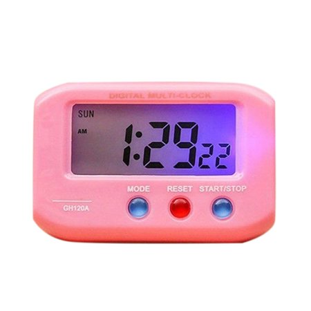 Portable Electric Desktop Clock Electronic Alart LCD Screen Data Time Calendar Desk Watch