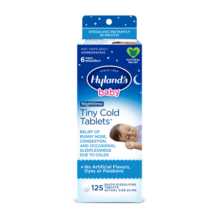 Hyland S Baby Nighttime Tiny Cold Tablets Natural Relief