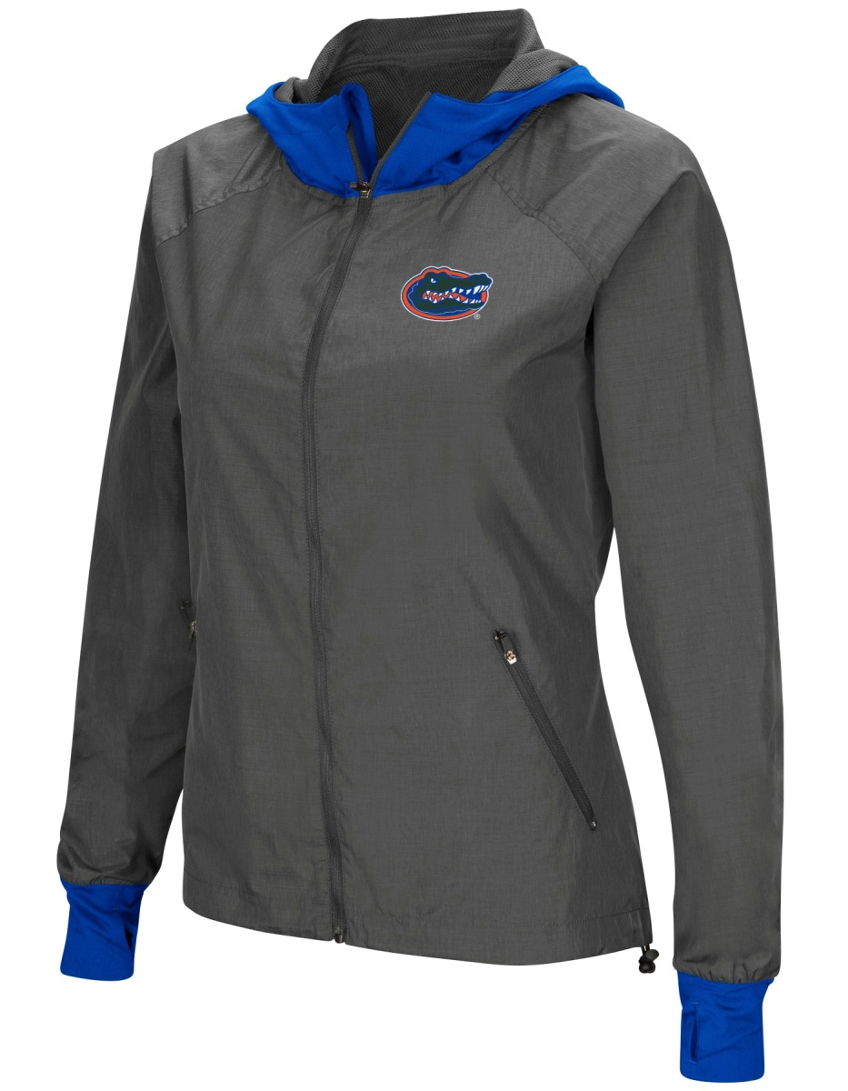 "Florida Gators NCAA Women's ""Backside"" Full Zip Hooded Charcoal Jacket by Colosseum"