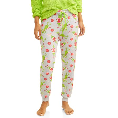 Grinch Stole Christmas Flannel - Grinch Women's Plus Grinch Toss Joggers