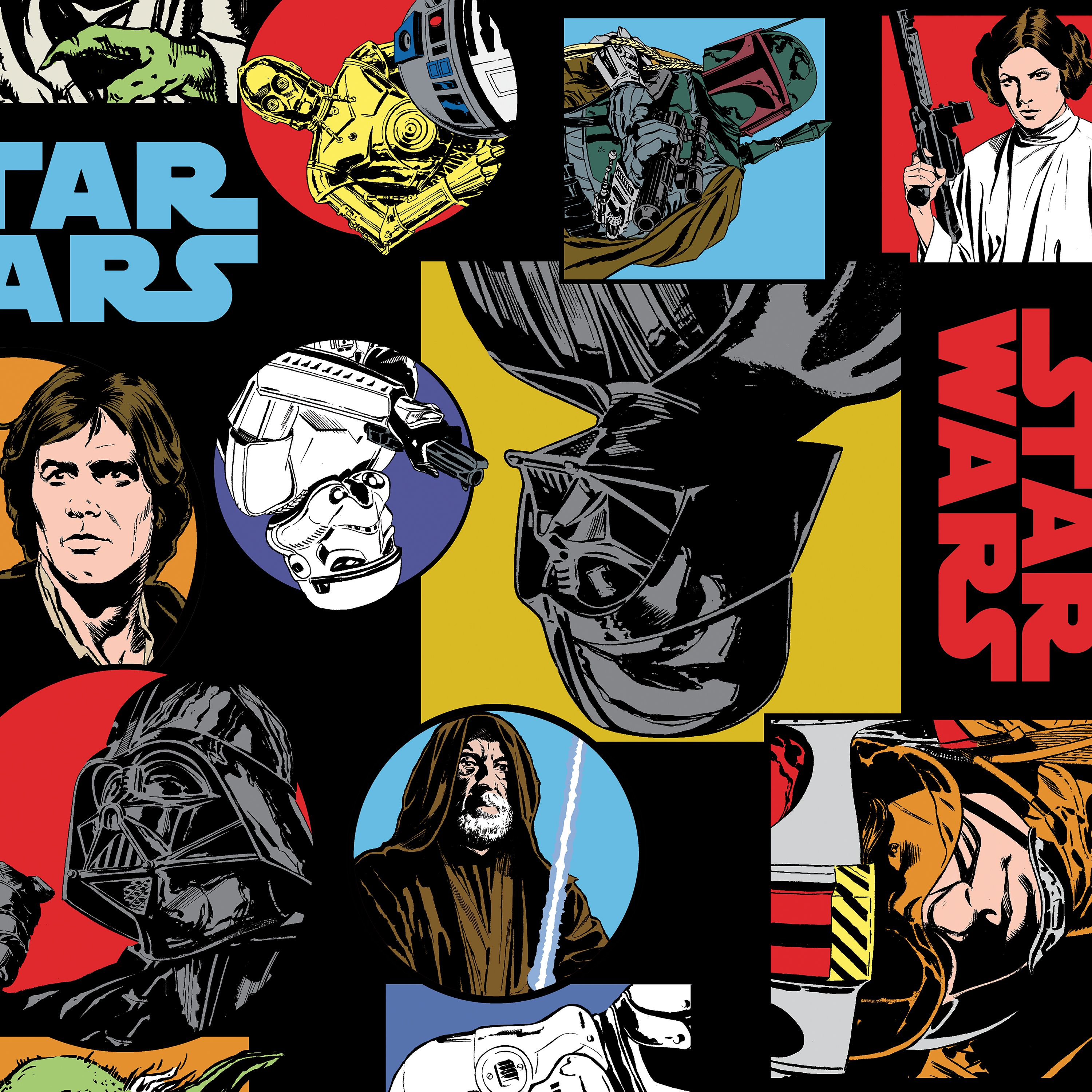 Star Wars Official Licensed Characters Fat Quarter Single 100% Cotton Pre - Cut Quilting Fabric Pieces