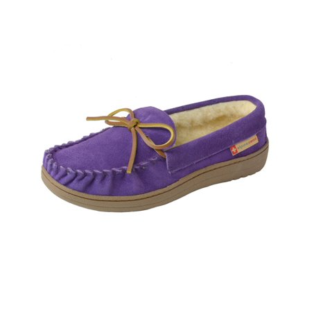 Alpine Swiss Sabine Womens Suede Shearling Moccasin Slippers House Shoes Slip On (Skylanders Slippers)