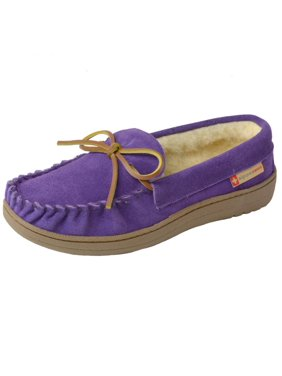 43bfcaf64584 Product Image Alpine Swiss Sabine Womens Suede Shearling Moccasin Slippers  House Shoes Slip On