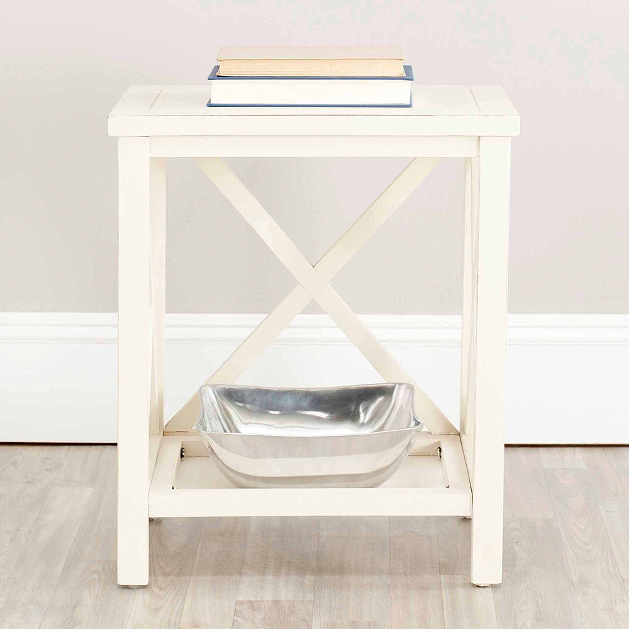 Safavieh Candence Cross-Back End Table, Multiple Finishes