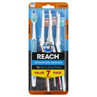 REACH Advanced Design Adult Toothbrush, Firm, 7 Count