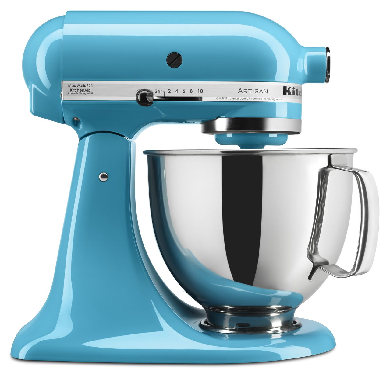 KitchenAid Artisan Series 5 Quart Tilt-Head Stand Mixer, Crystal Blue (KSM150PSCL)