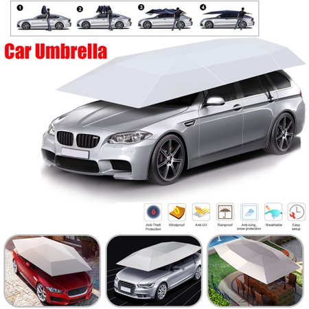 Generic Folded Portable Semi Auto Car Car Protection Umbrella