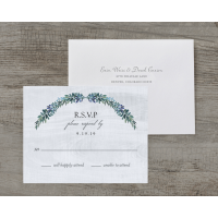 Personalized Wedding RSVP - Rustic Romance - 4.25 x 5.5 Flat Deluxe