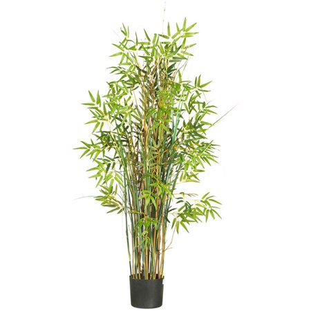Nearly Natural 5 ft. Artificial Bamboo Grass Silk Plant, Green ()