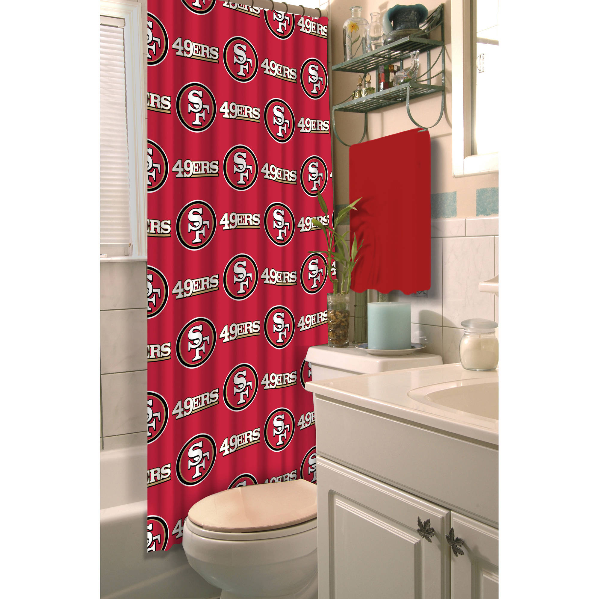 NFL San Francisco 49ers Decorative Bath Collection - Shower Curtain