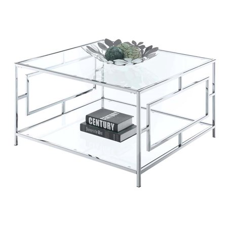 Convenience Concepts Town Square Chrome Square Coffee Table ()