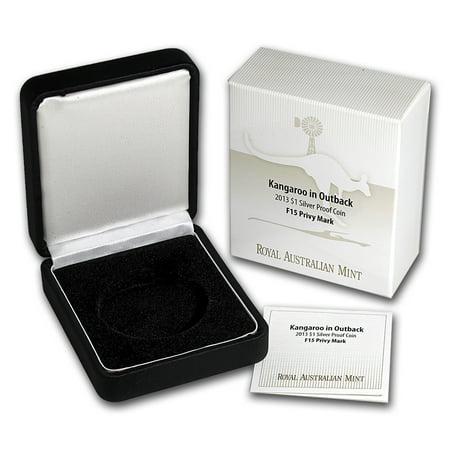 OGP Box & COA - 2013 RAM Silver Proof Kangaroo Coin F15 Privy