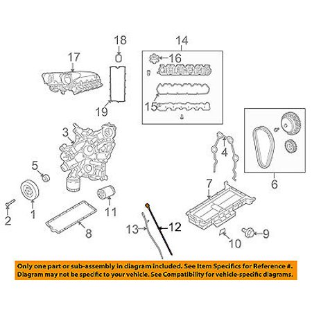 dodge chrysler oem 08-10 viper 8 4l-v10 engine-oil fluid dipstick 5037851aa  - walmart com