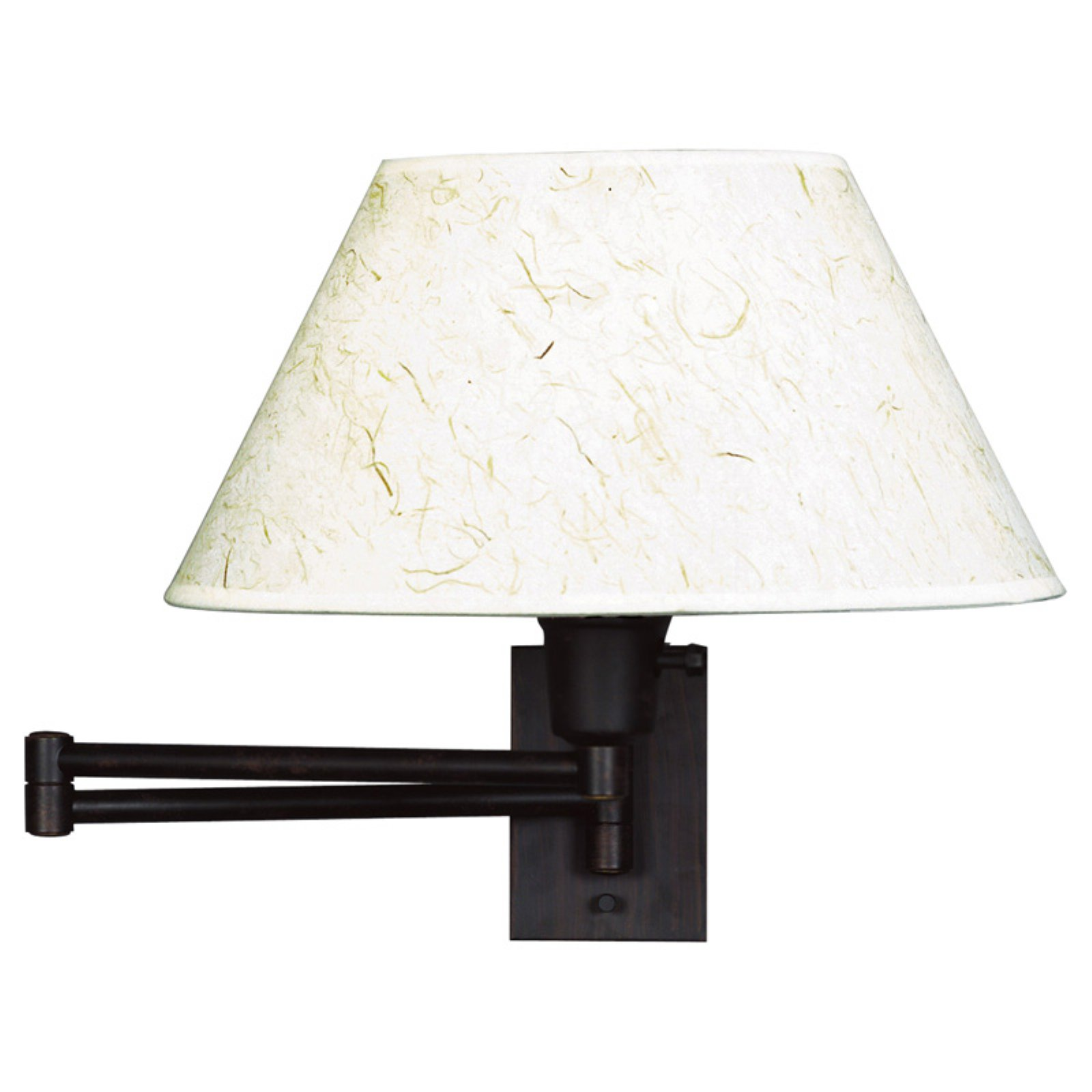 Kenroy Home Simplicity Wall Swing Arm Lamp 16W in. Bronze by Kenroy Home