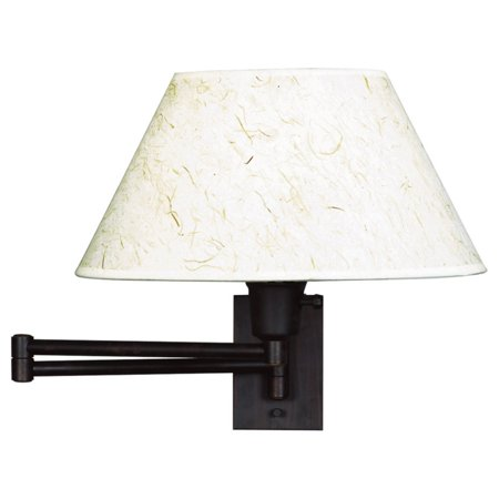 Kenroy Home Simplicity Wall Swing Arm Lamp 16w In Bronze