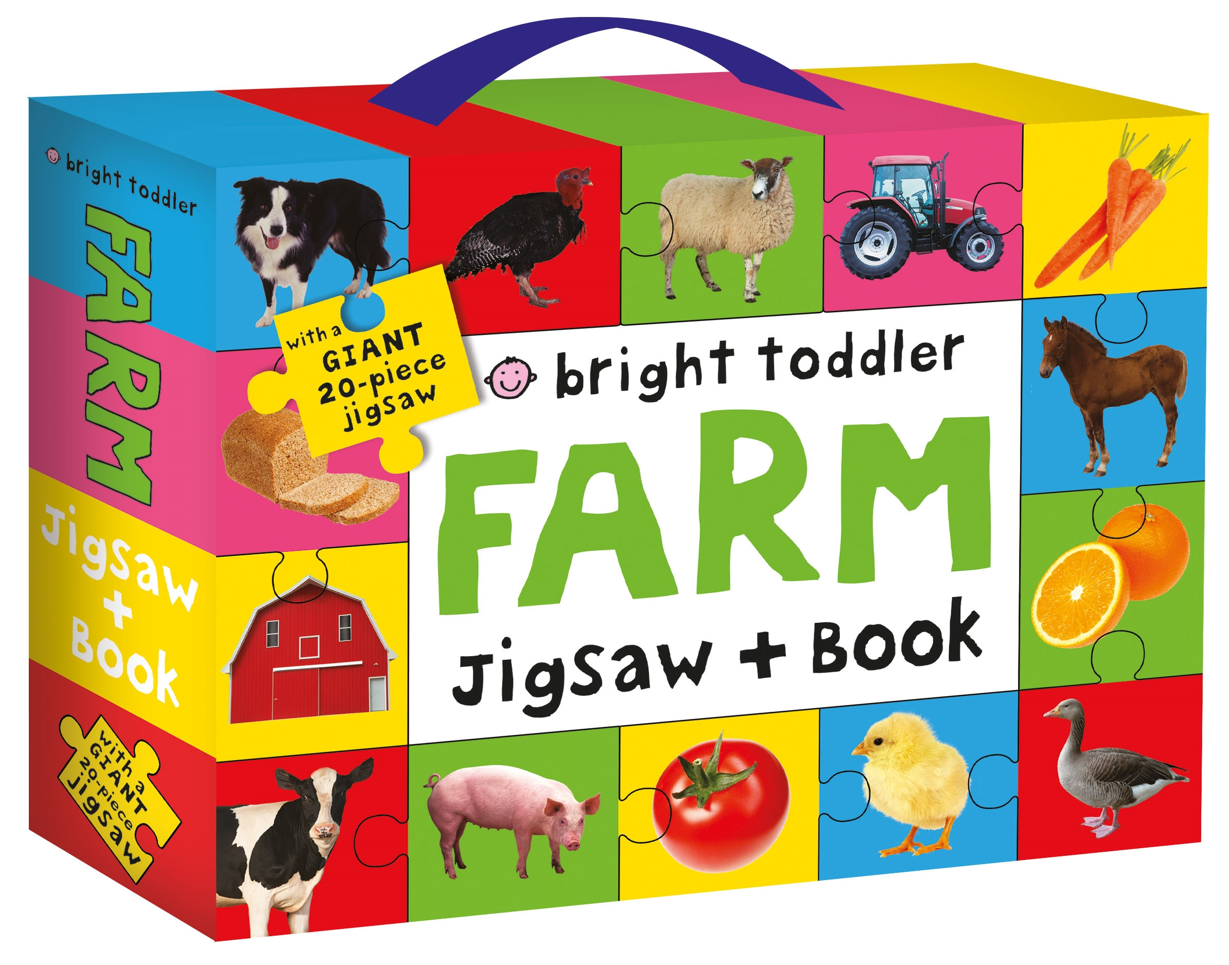 Bright Toddler: Farm Jigsaw and Book Set by Priddy Books