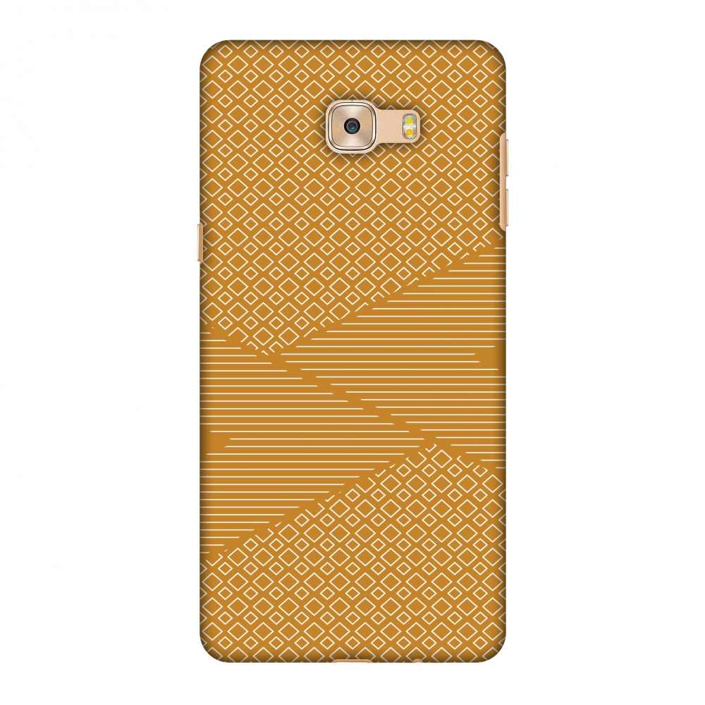Galaxy C7 Pro Case, Premium Handcrafted Designer Hard Shell Snap On Case Printed Back Cover with Screen Cleaning Kit for Samsung Galaxy C7 Pro, Slim, Protective - Carbon Fibre Redux Desert Sand 6