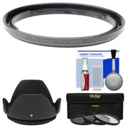 Bower FA-DC58E Conversion Adapter Ring for Canon PowerShot G1 X Mark II Camera (58mm) with Lens Hood + 3 UV/CPL/ND8 Filters + Kit