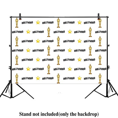 HelloDecor Polyster 7x5ft photography backdrop Hollywood night Step and repeat birthday Adult party banner red carpet background props photo studio booth