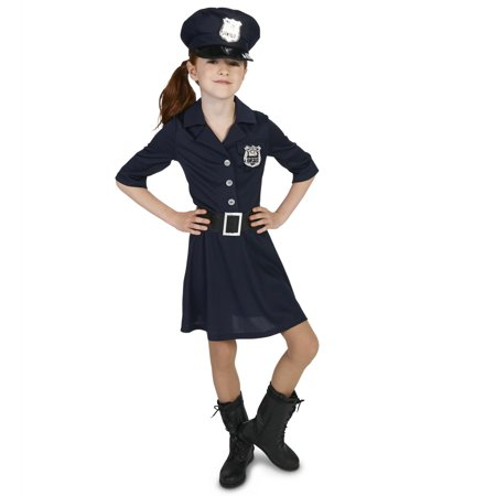 Police Officer Girl Child - Girl Police Officer Halloween Costume