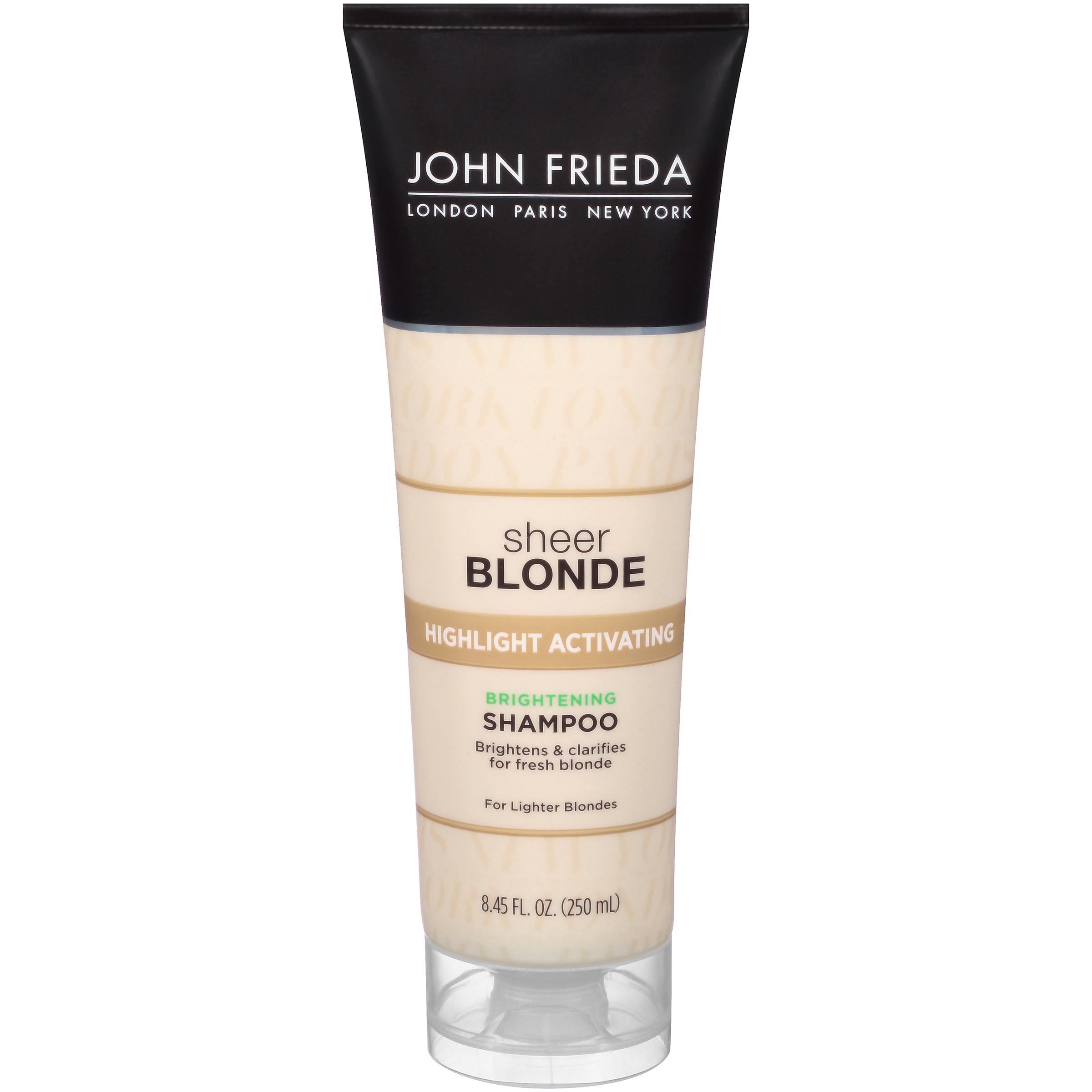 John Frieda Sheer Blonde Highlight Activating Brightening Shampoo, Lighter Blondes, 8.45 Oz