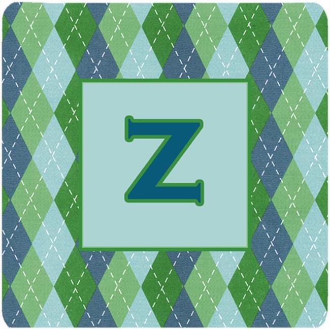 Monogram - Blue Argoyle Foam Coasters Initial Letter Z, Set - 4 - image 1 de 1