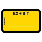 Tabbies Color-coded Legal Exhibit Labels, Yellow, 252 / Pack (Quantity)