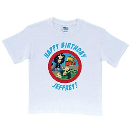 Wild kratts birthday tee personalized birthday t shirt for Personalized t shirts for kids cheap