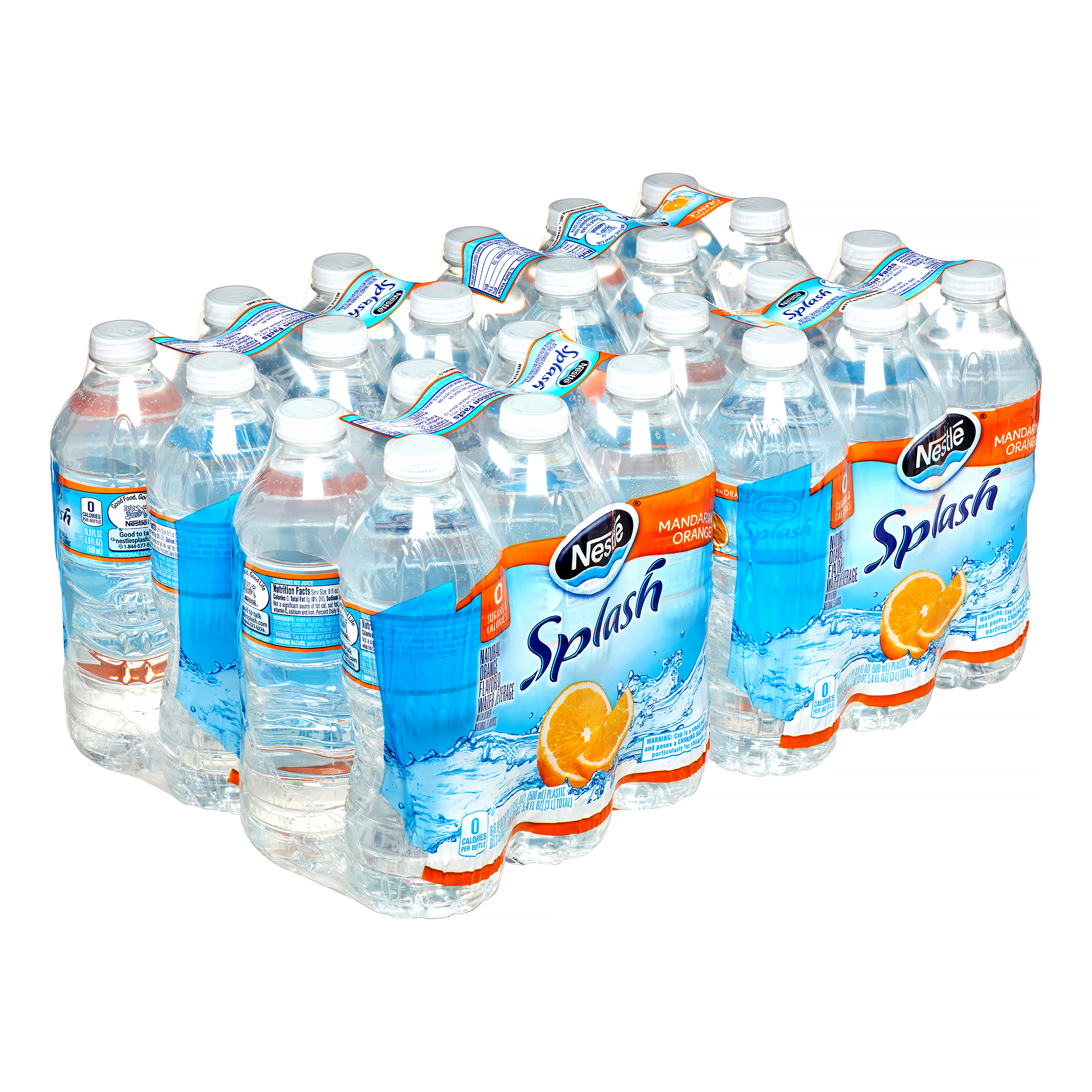 Nestle Splash Water, Mandarin Orange, 16.9 Fl Oz, 24 Count