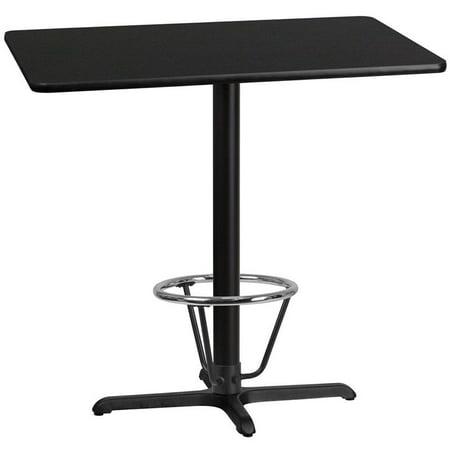 "Flash Furniture 30"" x 42"" Laminate Top Pub Table in Mahogany - image 3 de 4"