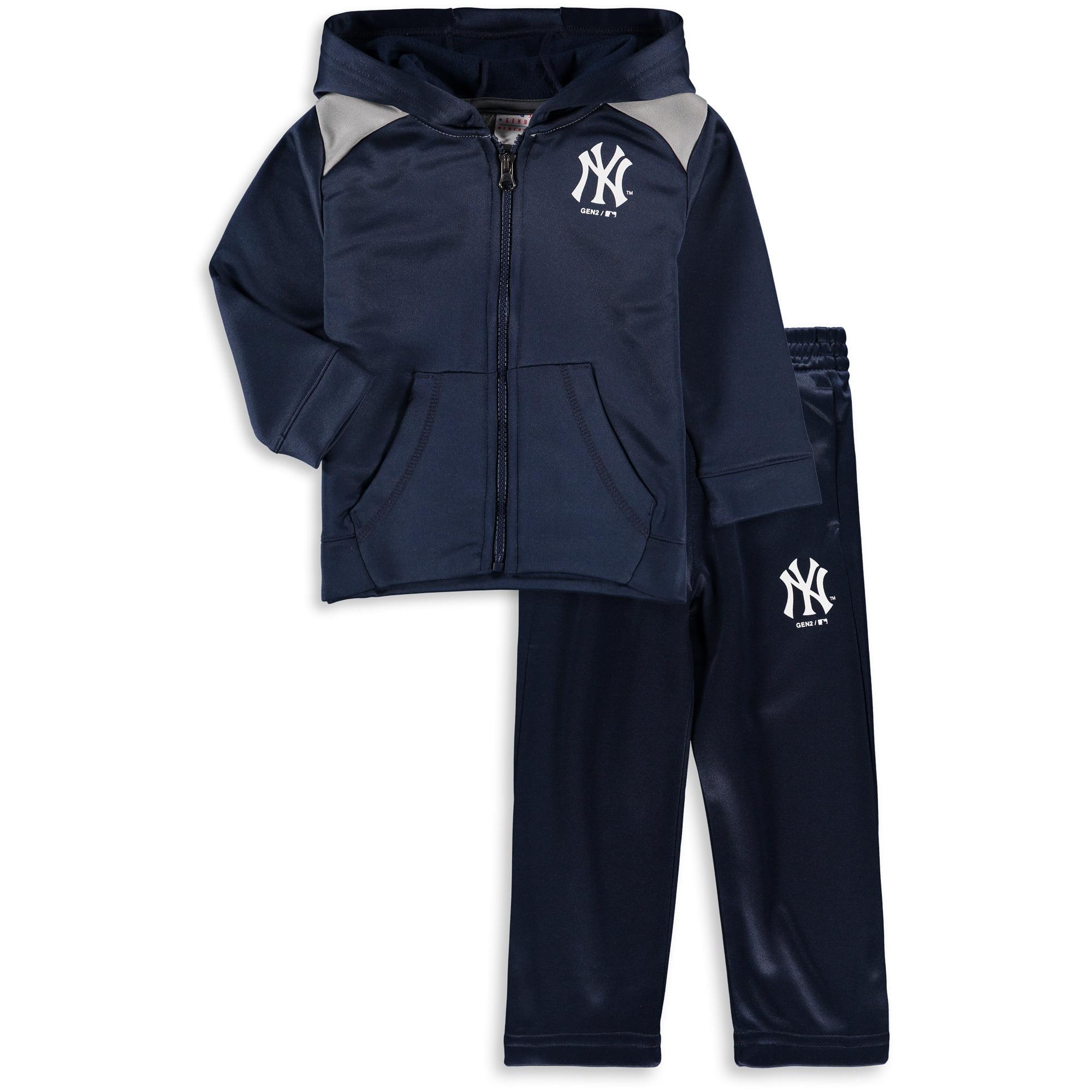 New York Yankees Majestic Infant Play Action Full-Zip Hoodie & Pants Set - Navy