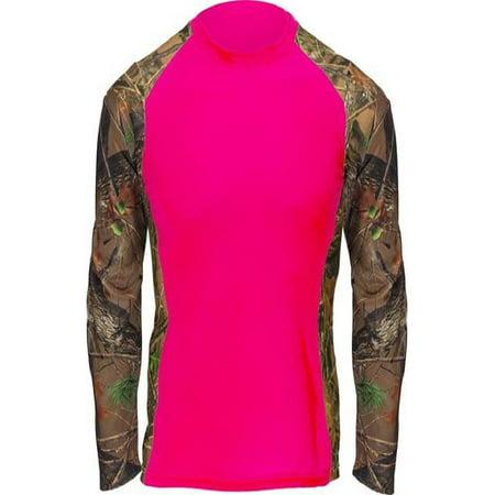 Trail Crest Camo Womens Performance Shirt Neon Pink Impulse 4 Way Stretch