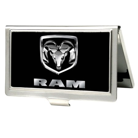 Ford Automobile Company Silver Ram Emblem Business Card Holder